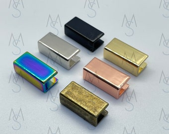 Metal Strap Ends - 3/4-Inch - 10 Pack - Strap End Caps - Bag Hardware - 2 Minutes 2 Stitch