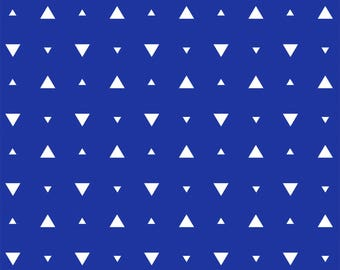 Elements by Windham - Ultramarine Optic Triangle - Cotton Woven Fabric