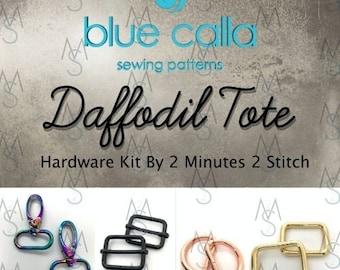 Daffodil Tote - Blue Calla Hardware Kit - Swivel Clips, D-Rings
