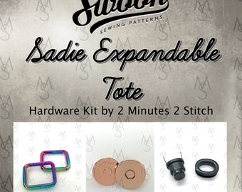 Sadie Expandable Bag - Swoon Patterns - Swoon Hardware Kit - Sadie Hardware - Bag Hardware Kit - by 2 Minutes 2 Stitch