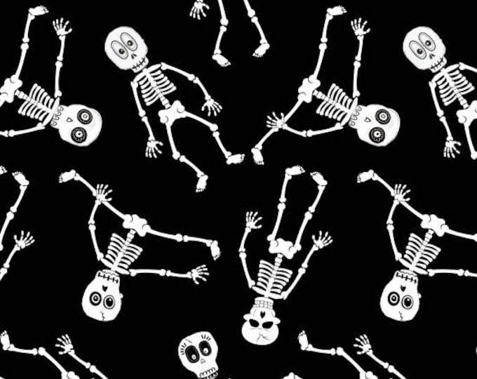 Ready, Set, Glow by Blank Quilting - Skeletons - GLOW in the Dark Cotton Woven Fabric