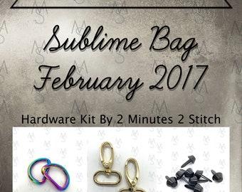 Sublime Bag Hardware Kit - Bag of the Month Club - Sew Sweetness - February 2017 Hardware Kit