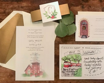 Custom Wedding Invitations Etsy