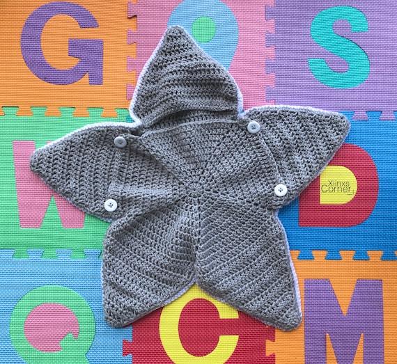 Couverture Nid Dange étoile Bébé Au Crochet