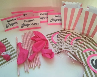 She's About to Pop! – Balloon Baby Shower Party Kit: – Invitations, Decor, Menu, Game - Girl, Boy or Neutral Invites - 3D