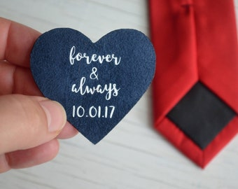 wedding skinny tie patch gift future husband groom tie gift for boyfriend gift for men to my groom wedding gift for groom of the bride gift