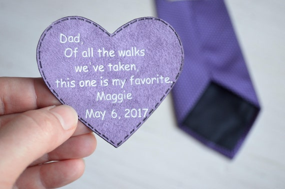 Father Of The Bride Gift Wedding Day Tie Patch Gift For Dad Of Etsy