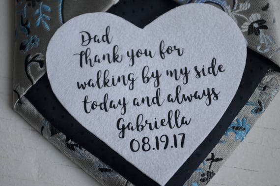 Wedding Gifts For Dad Tie Patch Birthday Gift From Daughter Etsy