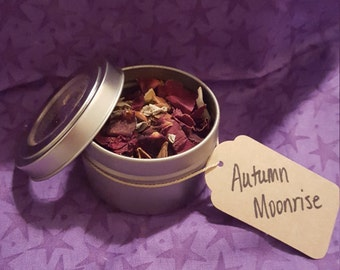 Autumn Moonrise Fall Equinox Loose Incense Herbal Blend