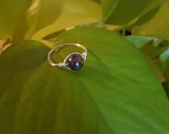 Hematite Wire Wrapped Ring