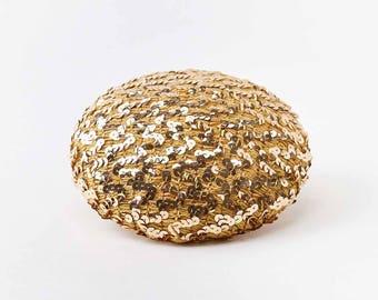 Chapeau paillettes dorées