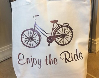 Enjoy the Ride Canvas Tote Bag