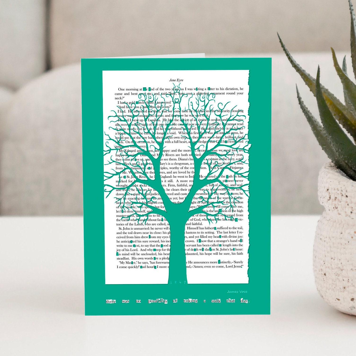 Jane Eyre Chestnut Tree A5 Greeting Card Literature Print Book