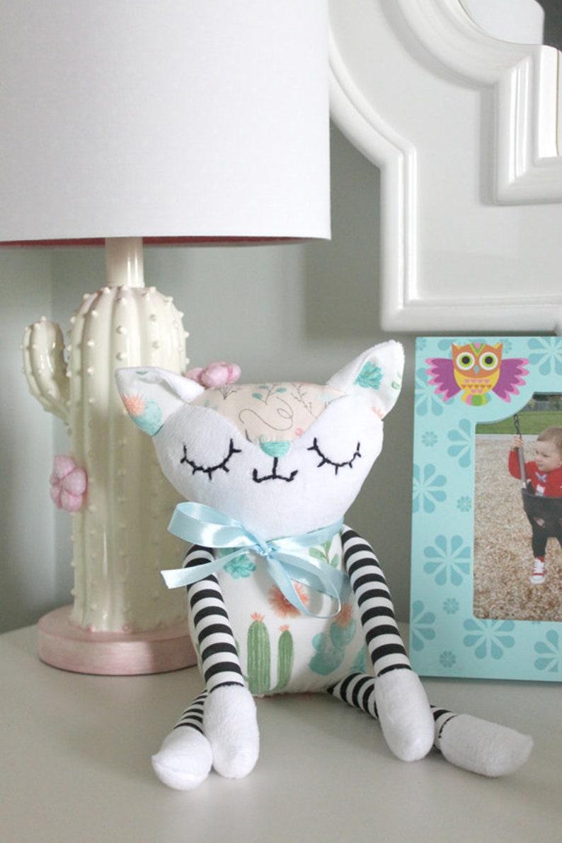 Cat Plush Toy  Children's toy/ Baby Toy/ Infant Plush Cat image 0