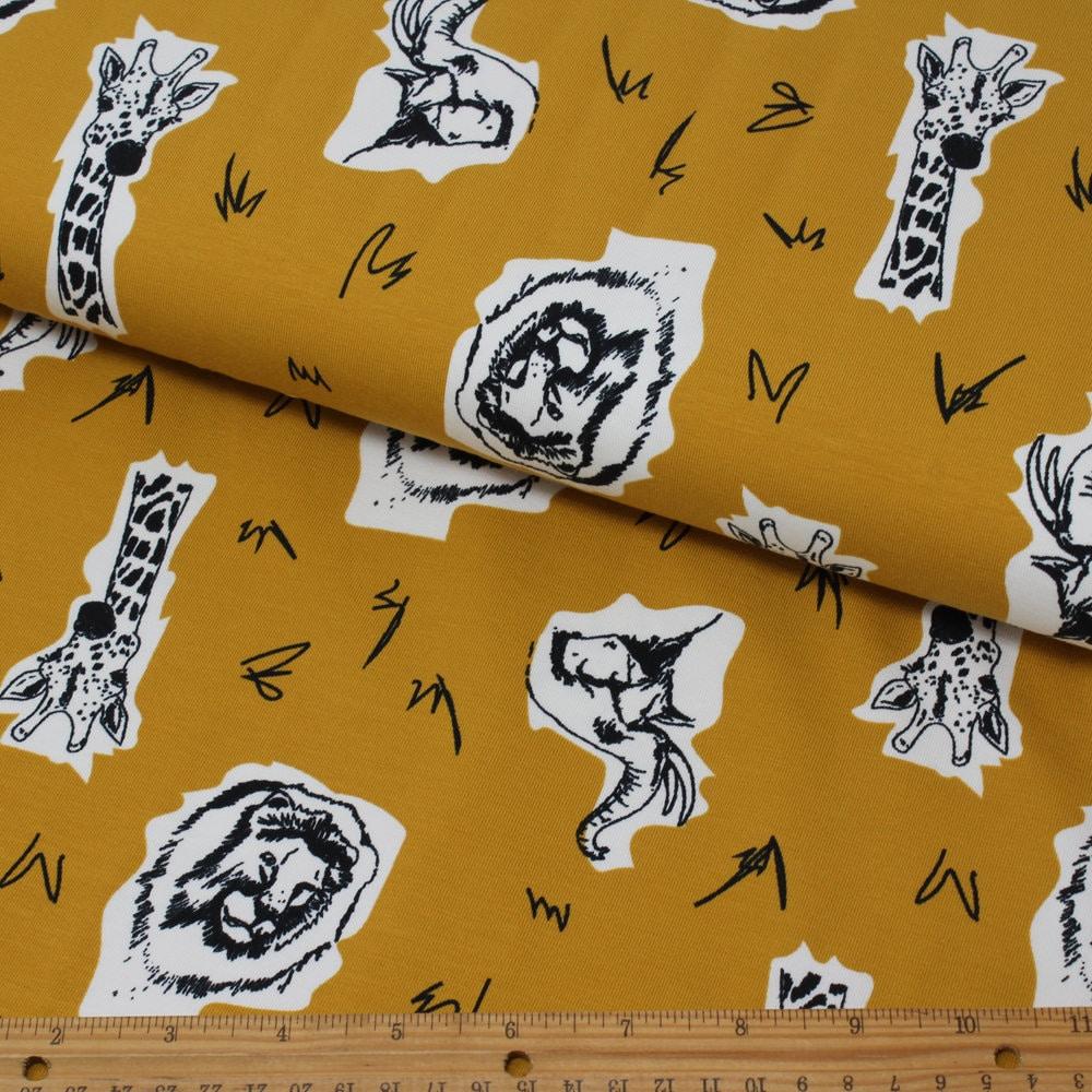 4c271ca1e1d HALF METRE Little Darling Organic Cotton Animal Print Jersey | Etsy
