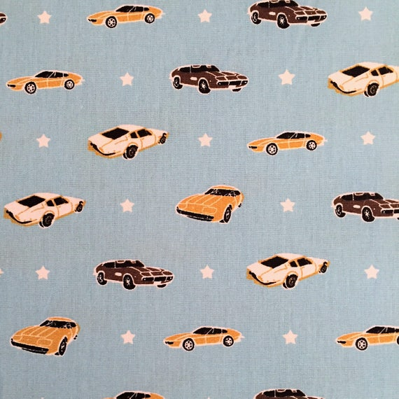 Half Metre Muscle Car By Poppy Cotton Fabric Quilting Etsy