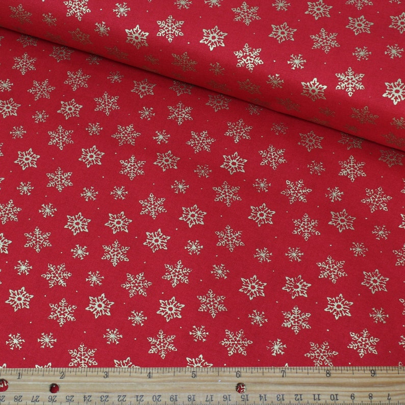 100/% cotton. Christmas Silent night black//grey snowflakes half metre free p/&p