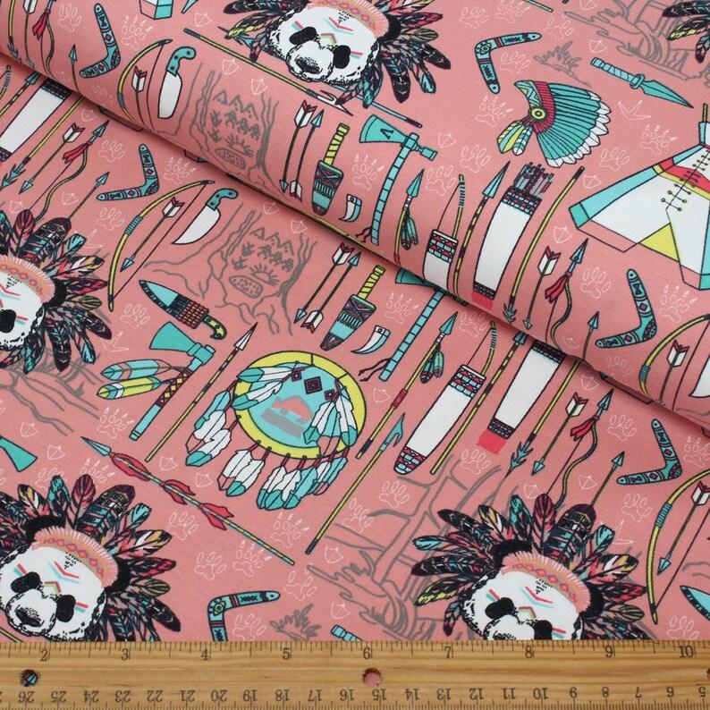 a32918539bd HALF METRE Apache Panda Jersey Knit FabricStenzo Jersey | Etsy