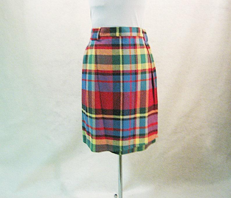Vintage Eddie Bauer Plaid Button Side Size 10 Purple Skirt Clothing, Shoes & Accessories