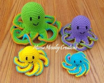 Octopus Family Crochet Pattern