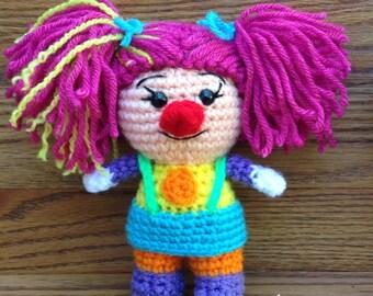 Crochet Girl Clown
