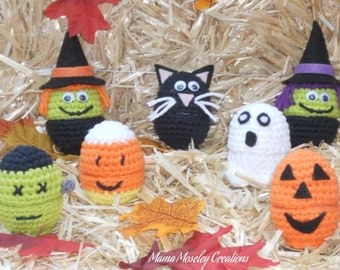 Crochet Halloween Egg Buddies Pattern This is a PDF pattern only- instant download