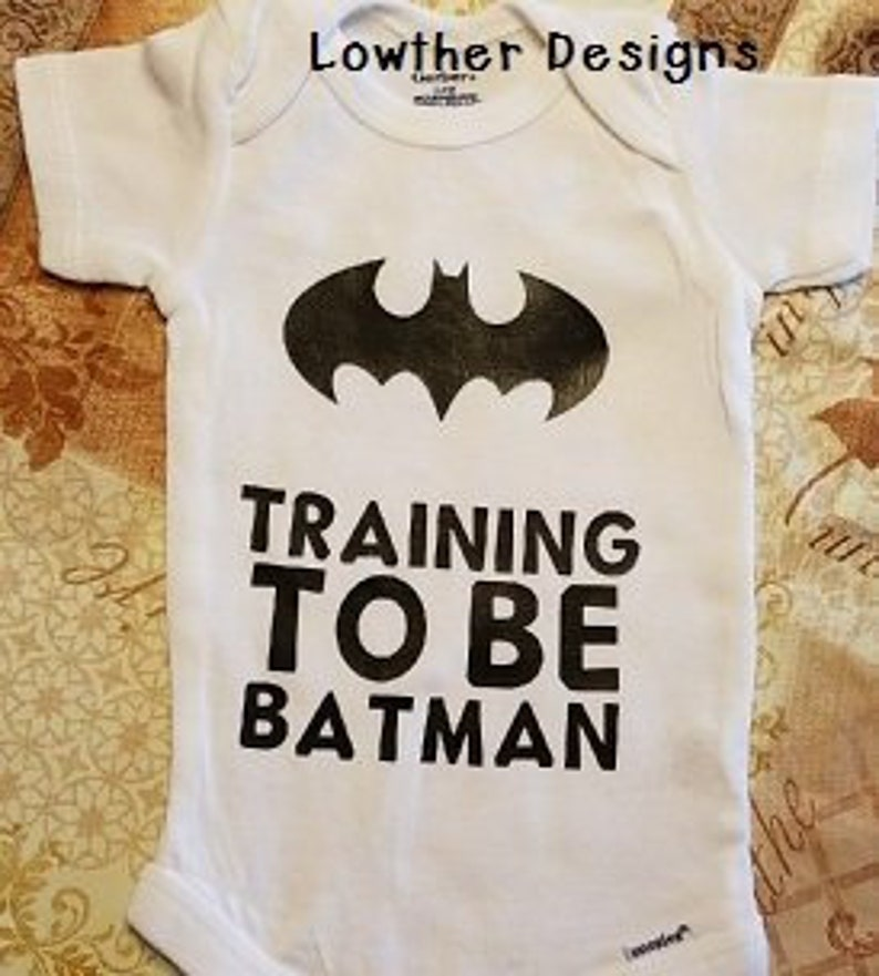 c40756a5 Baby boy bodysuitBaby girl bodysuitbatman in training | Etsy