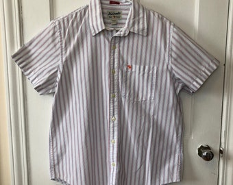 années 1990 chemise homme Abercrombie Short manches Oxford grand blanc robe rouge et bleue chemise Polo Chemise Vintage pour homme chemise for sale  Delivered anywhere in Canada