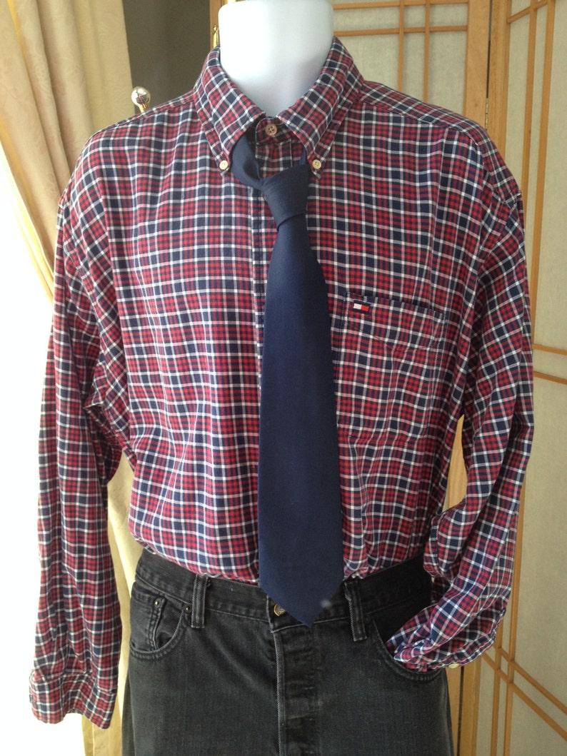 1e6db38d Tommy Hilfiger Dress Shirt Vintage Tommy Hilfiger Vintage XL | Etsy