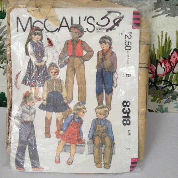 Schnittmuster Muster Kinder Cowboy Kostüm Country und Western | Etsy