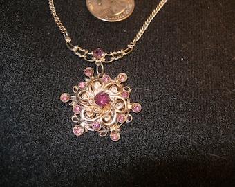 Pink Rhinestone Pendant