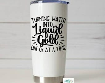Breastfeeding Decal, Turning Water Into Liquid Gold, Pumping Decal, Mom life, Gift for her- Motherhood decal, Water Bottle Decal,