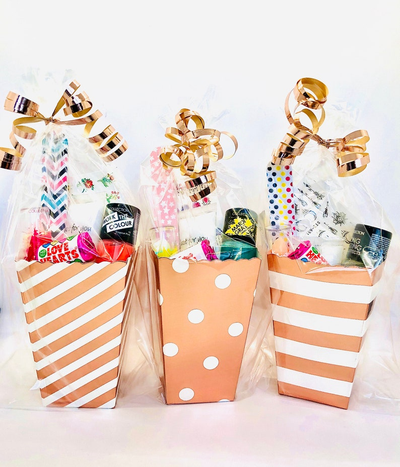 Girls Rose Gold Pre Filled Pamper Party Bags / Wedding image 0
