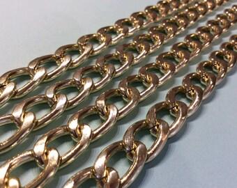 Alliage léger d aluminium doré chaîne 10 mm gère les sacs vendus à métro  embrayage sac à bandoulière 843ed2417c7