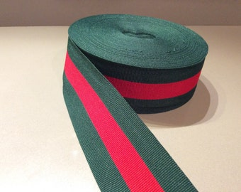 3dfc2635a striped ribbon red green grosgrain gucci style trim 2