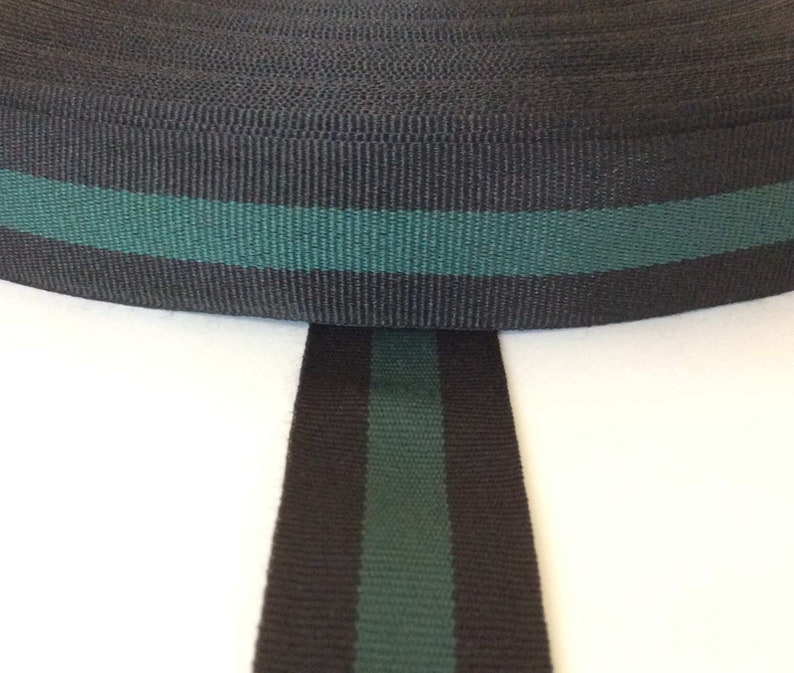 2366b879d8d Striped ribbon black green grosgrain gucci style trim 1