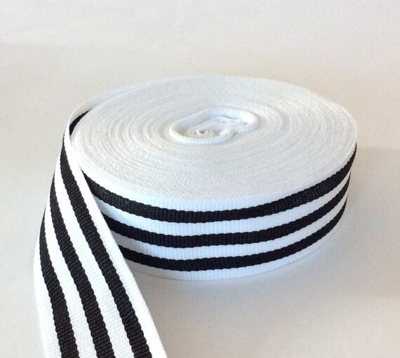 bc762f79508 Striped white black grosgrain ribbon gucci style trim 1