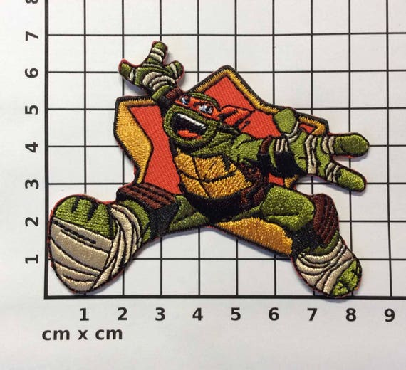 """Teenage Mutant Ninja Turtle patches iron on sew on patches  2 3//8/"""" size 8 pcs."""