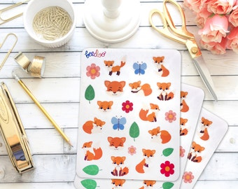 Cute Fox Planner Stickers