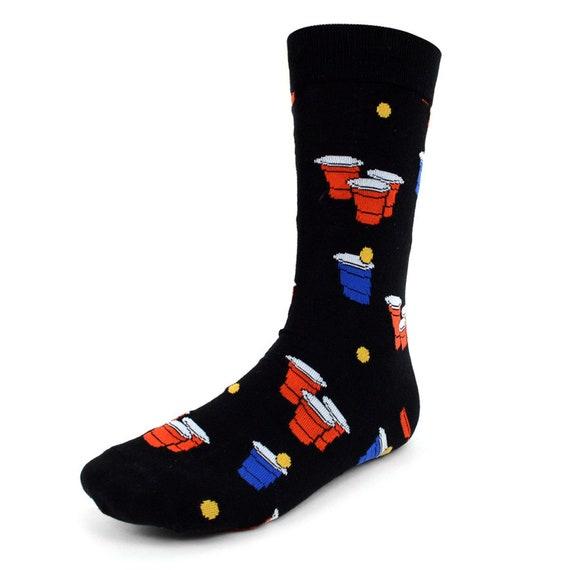 Beer Pong Fun Novelty Crew Socks