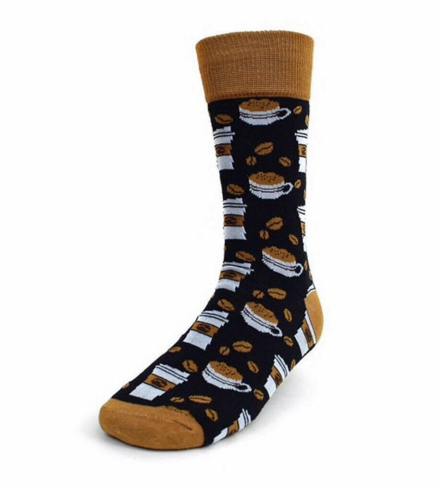 74891072b3d5 Mens Coffee Socks Mens Funny Socks Mens Flashy Socks Mens | Etsy