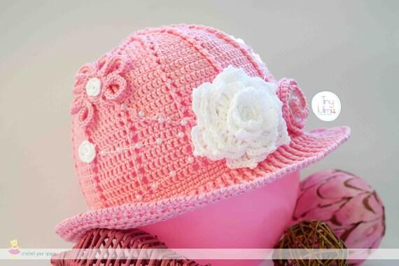 Neugeborenen Häkeln Hut Sommer Mädchen Häkeln Hut Häkeln Rosa Etsy