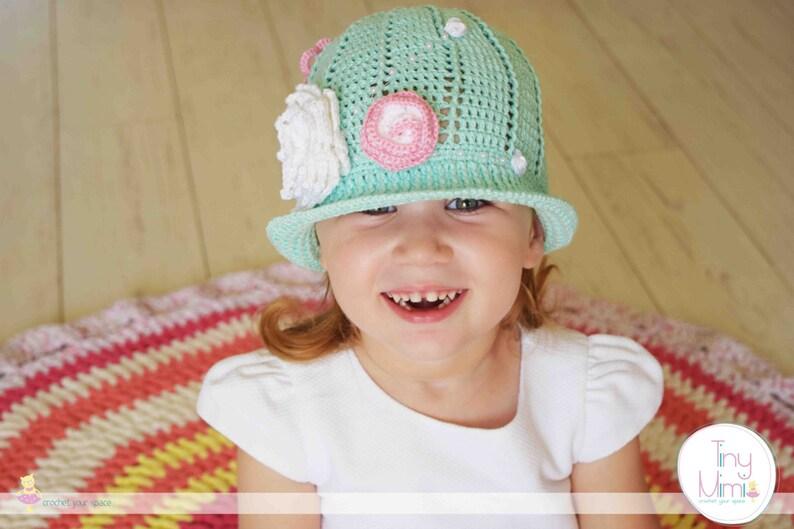 85151b55ad5 Crochet Panama Hat Crochet Cloche Hat Mint Panama Girls Hat