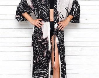 Beach Robe, Summer Robe, Party Robe, Long Robe, Kimono Wrap, Maxi Beach Cover Up, Resort Wear, Honeymoon Dress, Bridal Robe, GREECE
