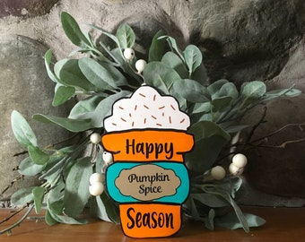 Pumpkin Spice Latte, Happy Pumpkin Spice Season, Pumpkin Spice, Fall Decor, Fall Tiered Tray
