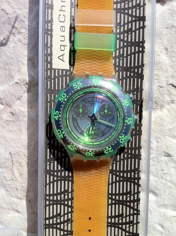 SBK101 swatch 1994 Sirena Aquachrono authentic Swi