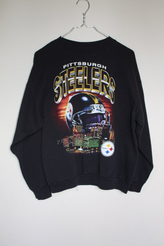 size 40 5a28f a414e Vintage Pittsburgh Steelers Sweatshirt / Football / NFL / Steelers / Black  and Gold / Pittsburgh / Football / Sweatshirt / Unisex