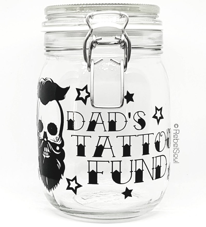 Personalised Tattoo Fund Savings Jar Gifts For Her Birthday Mothers Day
