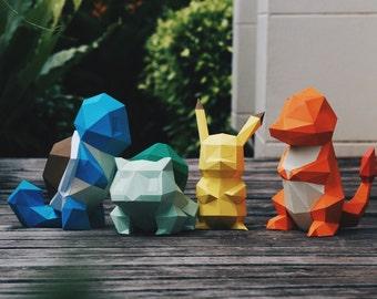 Bundle DIY model Collection of Pokemon models