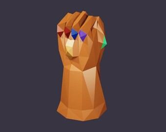 Thanos Gauntlet wearable papercraft DIY template